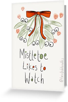 Mistletoe likes to watch by twisteddoodles