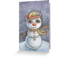 Snowman cropped for cards and postcards Greeting Card