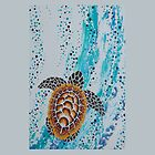 Aboriginal Sea Turtle iPad Case by Ron Hannah