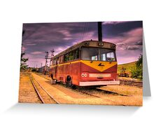 Cooma Railway Station Pay Bus/Train Greeting Card
