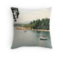Newcastle Island, Marine Provincial Park, Canada  Throw Pillow