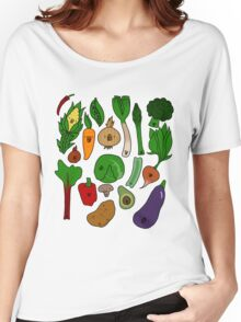 Happy Veggies Women's Relaxed Fit T-Shirt