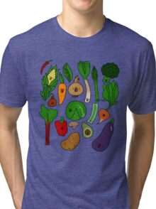 Happy Veggies Tri-blend T-Shirt