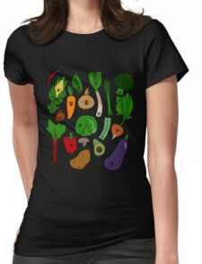 Happy Veggies Womens Fitted T-Shirt