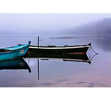 Pacheco blue boat Photographic Print