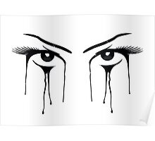 Womans Eyes Look Stare Poster