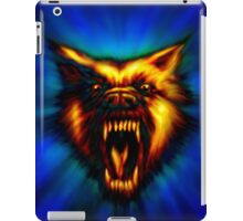 Hell Hound ( Flaming Wolf ) iPad Case/Skin