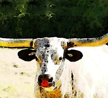 Texas Longhorn - Bull Cow by Sharon Cummings