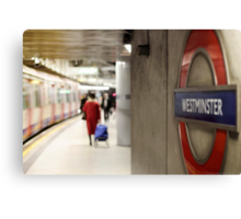 Westminster Undreground London Canvas Print