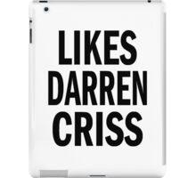 Likes Darren Criss iPad Case/Skin