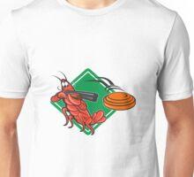 Crayfish Lobster Target Skeet Shooting  Unisex T-Shirt