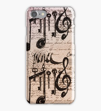 Musical Notes iphone case # 3  iPhone Case/Skin