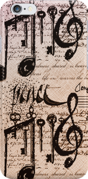 Musical Notes iphone case # 3  by Elaine  Manley