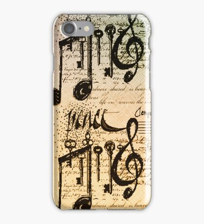 Musical Notes iphone #4 iPhone Case/Skin