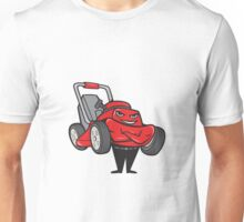 Lawn Mower Man Standing Arms Folded Cartoon  Unisex T-Shirt