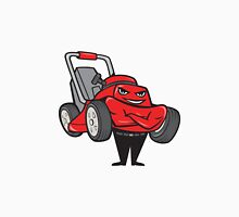 Lawn Mower Man Standing Arms Folded Cartoon  Unisex T-Shirt