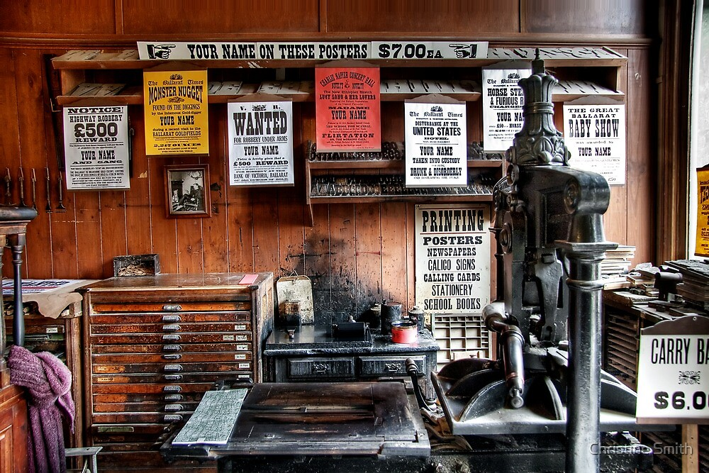 Sovereign Hill - Inside the Printers by Christine Smith