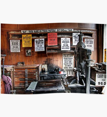 Sovereign Hill - Inside the Printers Poster