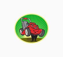 Lawn Mower Man Cartoon Oval  Unisex T-Shirt