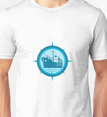 Passenger Ship Cargo Boat Retro  Unisex T-Shirt