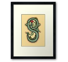 Celtic Oscar letter S (New Manuscript version) Framed Print