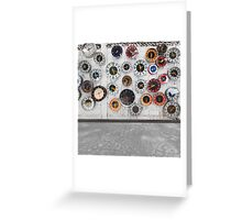 Retro clocks on the wall Greeting Card