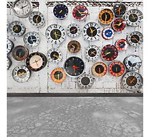 Retro clocks on the wall Photographic Print