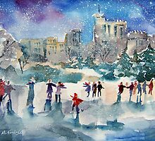 Skating At Windsor Castle London by Ballet Dance-Artist