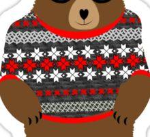 Cute Cuddly Festive Teddy Bear  Sticker