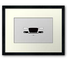 B8 (2012 facelift) simple front end design Framed Print