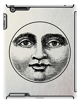 Moon Face - iPad Case by Carol Knudsen