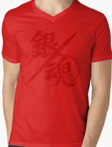 Gintama Red Logo Anime Mens V-Neck T-Shirt