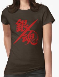 Gintama Red Logo Anime Womens Fitted T-Shirt