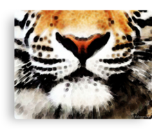 Tiger Art - Burning Bright Canvas Print