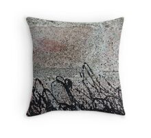 Abstract Brick Wall Throw Pillow