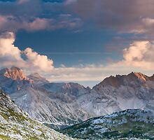 Pano View from Rifugio Biella, Dolomites by David Galson