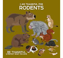 I Am Thankful For Rodents Photographic Print