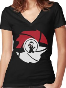 From Pallet Town With Love Women's Fitted V-Neck T-Shirt