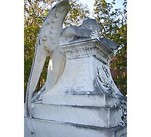 Cemetery Weeping Angel Photographic Print