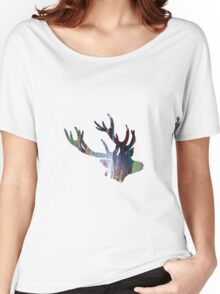 Abstract colorful antler painting Women's Relaxed Fit T-Shirt