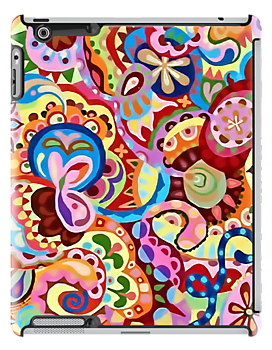 Apple Candy Pattern Design iPad Cover by David Alexander Elder
