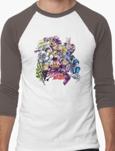JoJo's Bizarre Adventure: Diamond Is Unbreakable Characters Men's Baseball ¾ T-Shirt