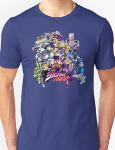JoJo's Bizarre Adventure: Diamond Is Unbreakable Characters T-Shirt