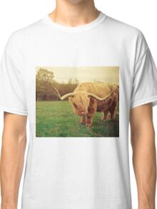 Portrait of a Scottish Highland Steer Classic T-Shirt