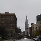 Cleveland's Crown Jewel Sparkles in the Rain by Robert  Buehner