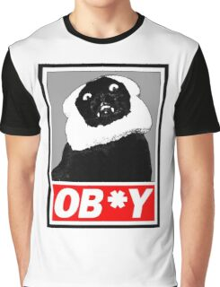 Ob*y breaded cat Graphic T-Shirt