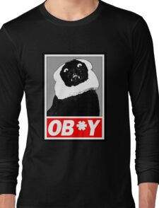 Ob*y breaded cat Long Sleeve T-Shirt
