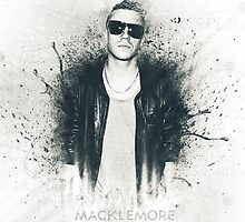 Macklemore Paint Splatter by HybridNotion