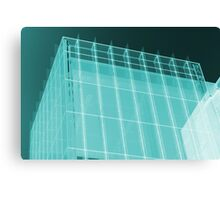 Transparent Cube Aqua Canvas Print
