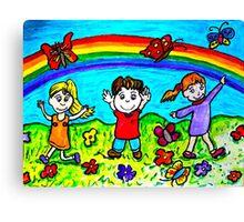 Catching butterflies Canvas Print